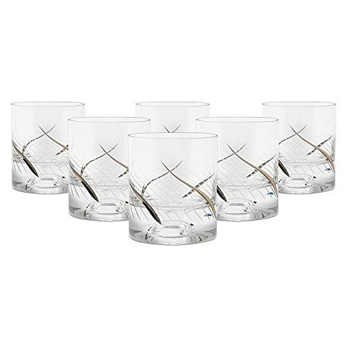 (Glazze Crystal RMC-051-PL Whiskey Glasses, 4
