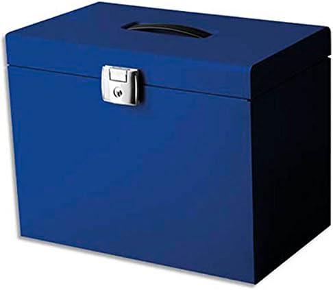 Valise de classement en m/étal Coloris bleu Dim: 36,5 x 28 x 22 cm Livr/ée avec 5 dossiers