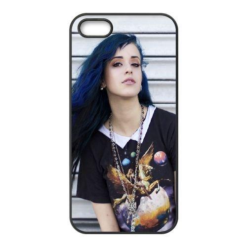 Brunette Girl Young Look 86396 coque iPhone 4 4S cellulaire cas coque de téléphone cas téléphone cellulaire noir couvercle EEEXLKNBC23896