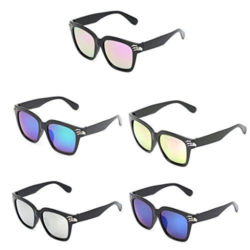 de Gafas 4 de cuadradas UV400 Sol Kimruida 1 Calavera diseño R8Yxw5