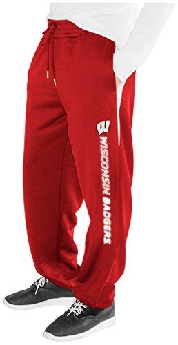 NCAA Wisconsin Badgers Men's Endurance Sweatpant, Red, X-Large (Wisconsin Badgers Mens Basketball)