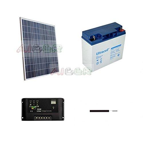 Kit fotovoltaico de 75 W a 12 V