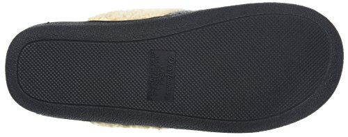Dearfoams Women's Textured Knit Closed Toe Scuff Open Back Slippers Grey (Dark Heather Grey) lzxmY9vg