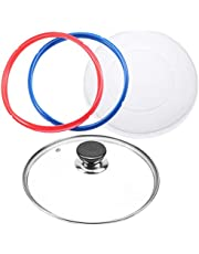 9 inch Tempered Glass Lid for Instant Pot 6 Quart, Silicone Lid Silicone Cover for Instant Pot 6 Quart, Silicone Sealing Rings for Instant Pot 5 qt or 6 qt (2 Pack), Set of 4 Instant Pot Accessories