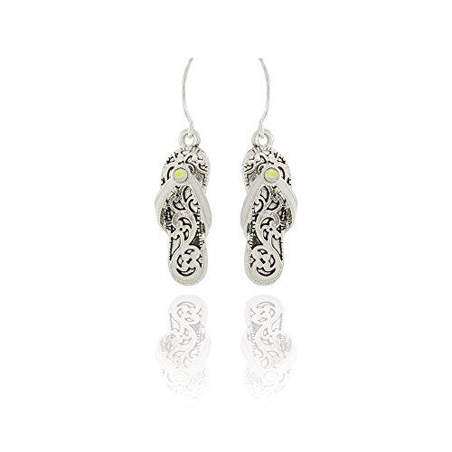 - Silver Filigree Flip-flop Drop Earrings [Island Style]