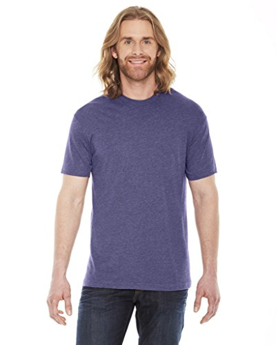 - American Apparel Unisex Poly/cotton Short Sleeve C - Heather Imperial Purple - L