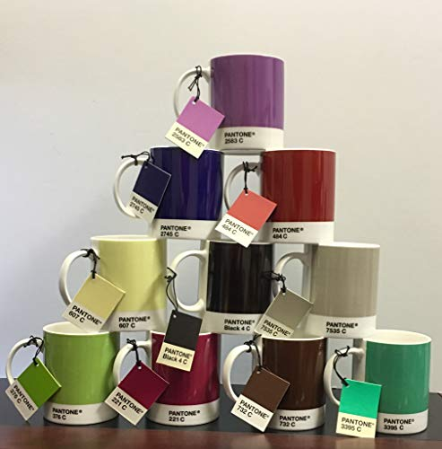 Whitbread Wilkinson Pantone Bone China Mugs Assorted Mixed Set Of 10