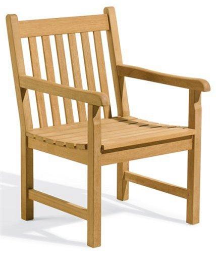 Oxford Garden - Classic Collection Shorea Armchair   100% Tropical Shorea Hardwood Outdoor Furniture