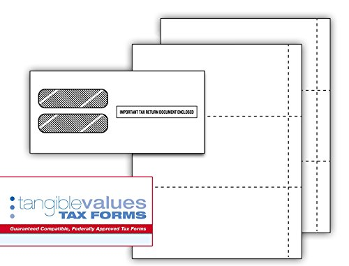 Tangible Values W-2 Blank 3-up Perforated Small Business Filing Kit (50 Employees)