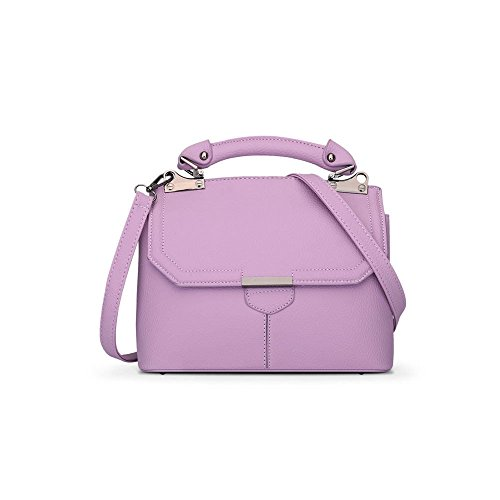 Purple Magnetic Buckle Shoulder Handbag Bag Flip Leather Cover Bag PU pw6zTq