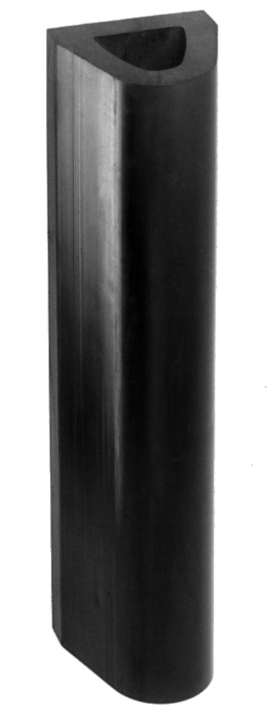 Durable Rubber Extruded Bumper, Rectangular, 12'' Length, 4-1/2'' Width, 4'' Depth