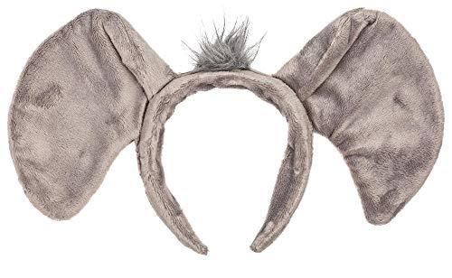 Halloween Elephant Ears (Wildlife Tree Plush Elephant Ears Headband Accessory for Elephant Costume, Cosplay, Pretend Animal Play or Safari Party)