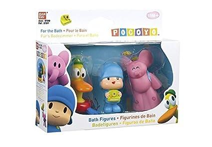 Amazon.com: Bandai Pocoyo - Juego de figuras de baño 3 en 1 ...