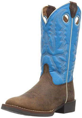 Justin Boots Kids' Chocolate Buffalo Bent Rail Western, Brown, 4 D Big Kid