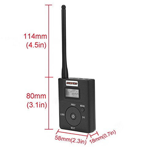 EXMAX 60-108MHz Portable DSP Stereo Wireless Headsets FM Radio Broadcast System for Tour Guide Teaching Meeting Training Travel Field Interpretation - 1 Transmitter and 30 Receivers White by EXMAX (Image #2)