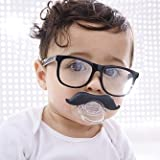 Funny Black Mustache Pacifier Teether For Cute And Adorable Baby Boys And Infants Extra Soft Silicone Built BPA Free Helps Alleviate Dental Growth The Perfect Baby Shower Gift