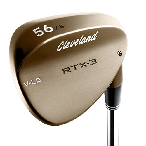 (Cleveland Golf Men's RTX-3 VLG Tour Wedge, Right Hand, Steel, 56 Degree, Raw Heads)