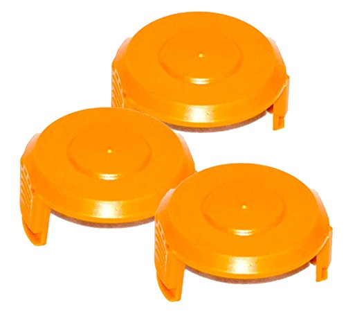WORX WA6531 GT Trimmer Replacement Spool Cap Covers (3 Pack) by Worx