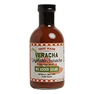 True Made Foods Original Veracha, Vegetable Sriracha, Whole 30 Compliant, Paleo Certified, Non-Gmo, Sugar-Free, 18 Oz. Glass Bottle