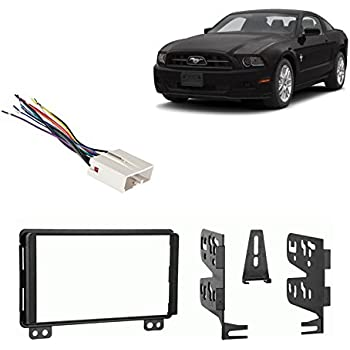 Fits Ford Mustang 2004 Double DIN Aftermarket Harness Radio Install  Ford Mustang Radio Wiring Harness on nissan wiring harness, 2004 mustang wiring diagram, 2004 mustang radio fuse,