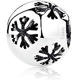 perfect brand snowflake Charm - Sterling Silver fit pandora bracelet necklace