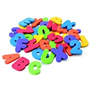36 pcs/set (26 Letters + 10 Numbers ) Bath Toys Bath Letters Baby Early Alphabet Educational Tool