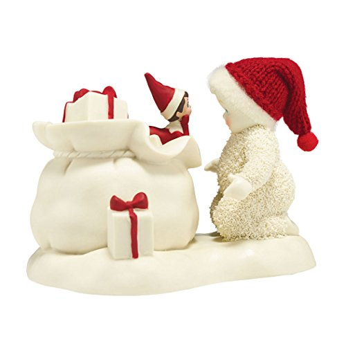 Department 56 Snowbabies Elf On The Shelf Helps Santa Porcelain Figurine, 3.6