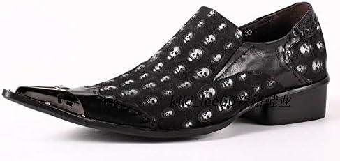 New Skull Men Formal Shoes Pointed Toe Fashion Men Oxfords