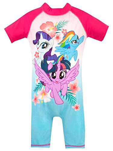 My Little Pony Girls' Twilight Sparkle Rainbow Dash Rarity Swimsuit Pink Size 5 ()