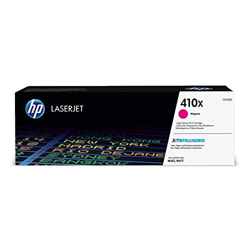 - HP 410X (CF413X) Toner Cartridge, Magenta High Yield for HP Color LaserJet Pro M452dn M452dw M452nw MFP M377dw MFP M477fdn MFP M477fdw MFP M477fnw