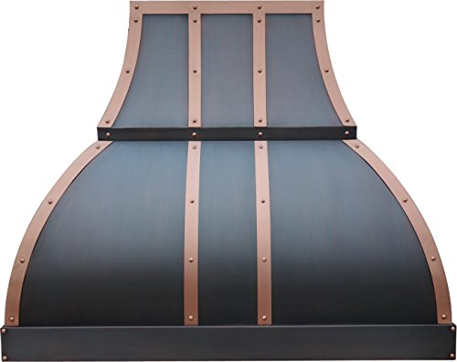 Stove Hood Copper Best H1 362139S Copper Range Hood for 30in or 36in Oven, Wall Mounted 660CFM Vent