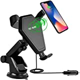 Wireless Charger Car Mount,Gemwon Wireless Charging Phone Handset Bracket With A Suction Mount and An Air Vent Mount for IPhone X/IPhone 8/IPhone 8 Plus/Samsung Note/LG/Nexus Compatible All Qi-enabled