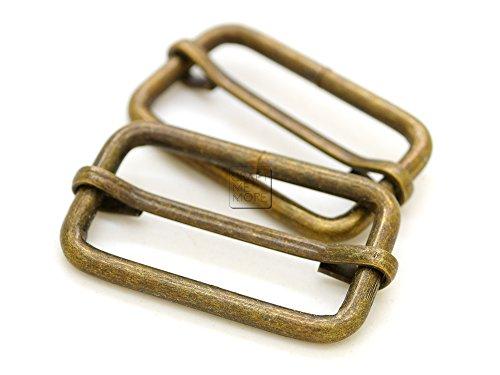 CRAFTMEmore Movable Bar Slide Strap Adjuster Rectangle Strap Keeper Triglide Belt Keeper Purse Making 1 1/4