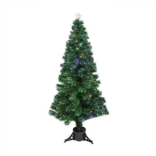 6' Pre-Lit LED Color Changing Fiber Optic Christmas Tree with Star Tree (Pre Lit Led Color)