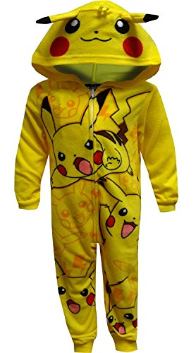 Pokemon Pikachu Onesie Pajama for Little Boys (4)