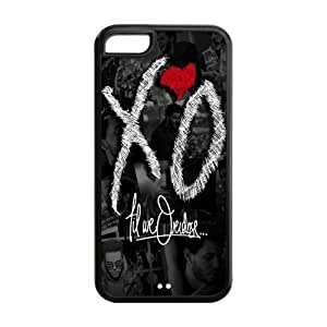 Personalized XO Snap-on TPU Rubber Coated Case Cover for iPhone 5C