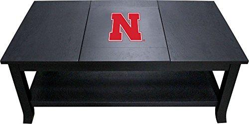 Imperial Officially Licensed NCAA Furniture: Hardwood Coffee Table, Nebraska Cornhuskers