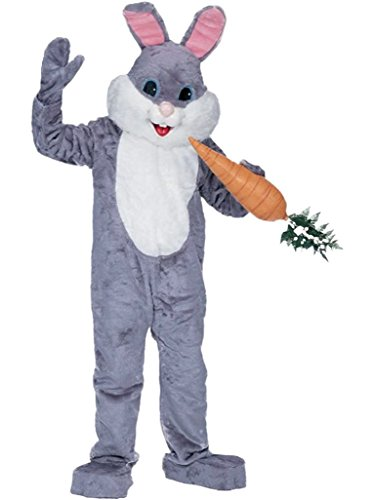 (Rubie's Premium Rabbit Mascot Grey, Gray, One Size)