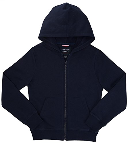 French Toast School Uniform Boys Girls Unisex Hooded Sweatshirt Fleeces Hoodie, Navy, 7