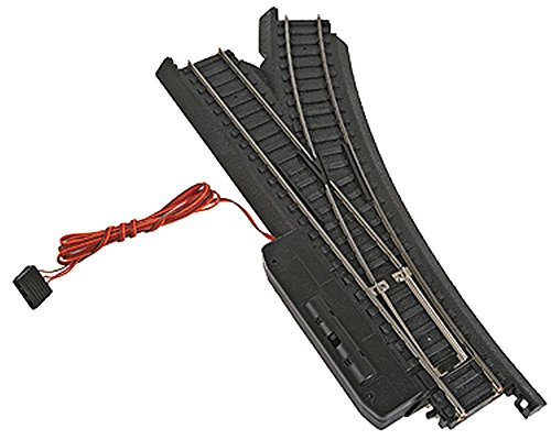Life-Like Trains Power-Loc  HO Scale Track - Right Hand Remote Control Switch, Steel