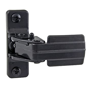 Ultra Hardware 31601 Storm And Screen Door Latch Handle   Resilient Keeper    Black Finish