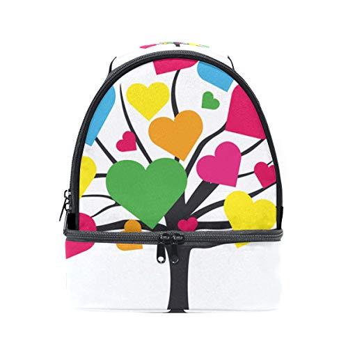 coloré en à Tote coeur Folpply isotherme bandoulière l'école Sac de Boîte Arbre Cooler forme pour lunch avec à réglable Pincnic dU5qwA