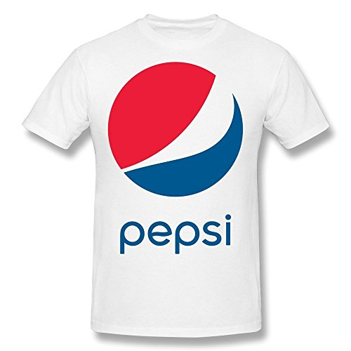 XiangXiangli Mens Pepsi Logo 2014 Cotton T-shirts M White (Pepsi Man Ps1)
