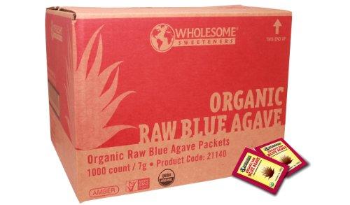 Édulcorants sains organiques Raw Blue Agave paquets, 1000-Count