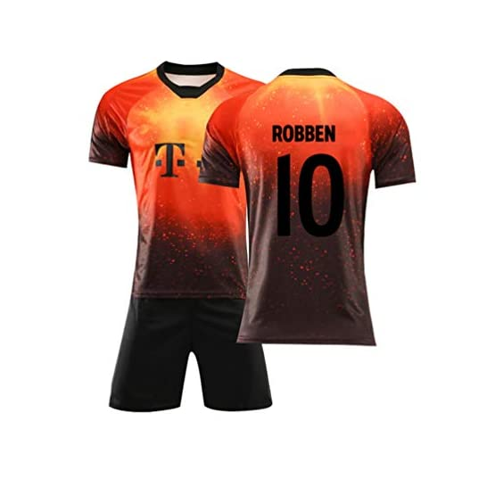 Rayuwen Maillot Foot Soldes Football Unifié #10 Arjen Robben FC Maillot Coupe du Monde Internationale pour Adult Youth