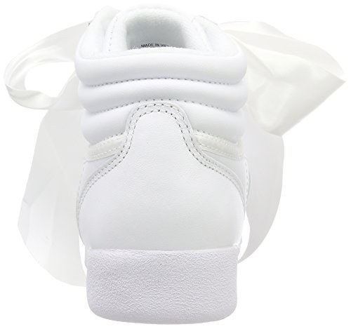 F Whiteskull Blanco S Whiteskull Mujer Zapatillas de Bow Grey Gimnasia Grey Satin Reebok Hi para ZdFqZ