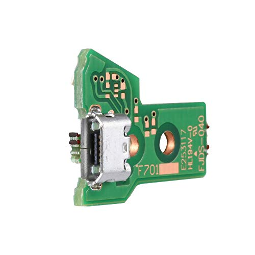 Libertroy Placa de Puerto de Carga USB de 14 Pines JDS-040 para el Controlador Sony PS4 Dualshock Verde