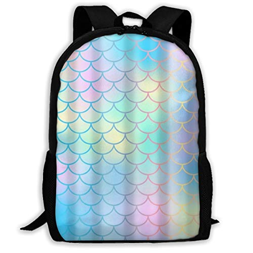 Fish Colourful - Colourful Fish Scale Magic Mermaid Tail School Backpack Knapsack Cute Daypack Children Travel Backpack For Women Men