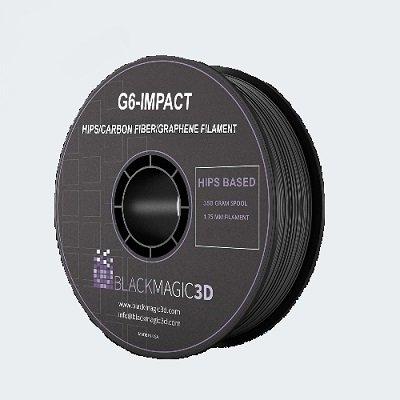 1.75 mm Black Magic 3D G6 Impact Filament (350g)