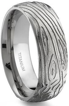 7 Degree Wood Finally popular brand Grain Ring Special sale item Titanium Band